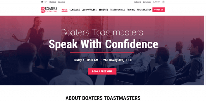 Boaters Toastmasters Christchurch